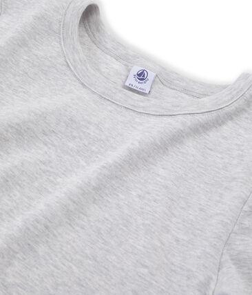 Iconisch T-shirt met korte mouwen vrouwen grijs Beluga