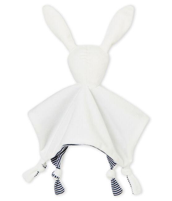 Doudou lapin milleraies blanc Marshmallow