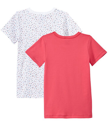 Lot de 2 t-shirts fille manches courtes