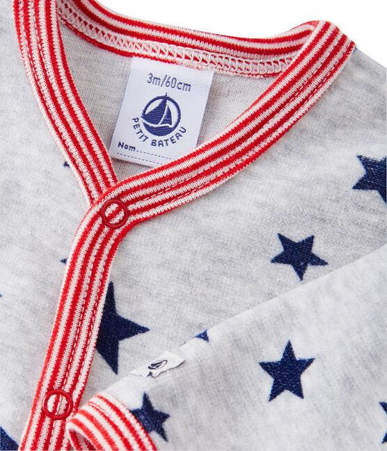 Pyjama met dessin voor babyjongens grijs Beluga / wit Multico