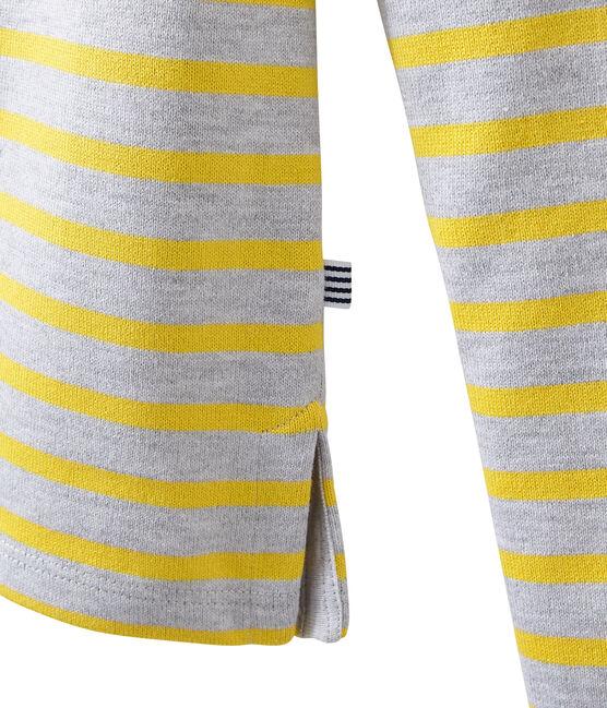 Marinière iconique pour femme gris Poussiere / jaune Ble
