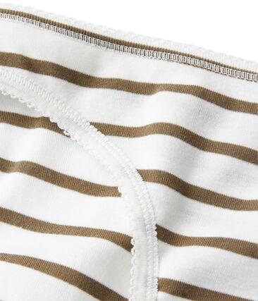 Culotte femme en coton à rayures