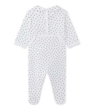 Pyjama voor babymeisjes met hartjesdessin wit Ecume / blauw Medieval