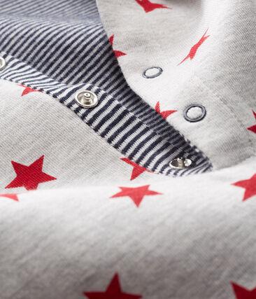 Lang pakje met print babyjongen met capuchon grijs Beluga / rood Terkuit