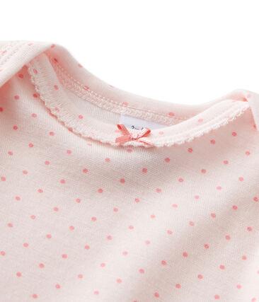 Combinaison longue bébé fille en laine et coton rose Vienne / rose Gretel