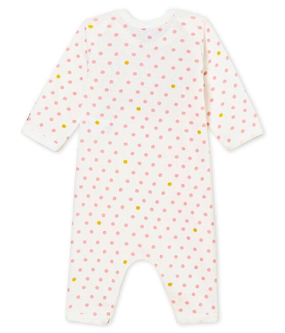 Dors bien sans pieds et bavoir bébé fille blanc Marshmallow / blanc Multico
