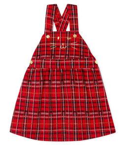 Salopette jurk met ruitjesmotief babymeisje