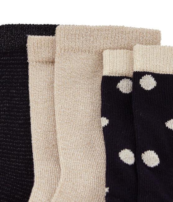 Lot de 3 chaussettes or lot .