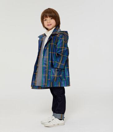 Ciré enfant mixte à carreaux bleu Limoges / blanc Multico