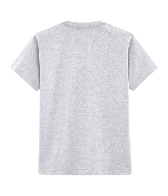 T-shirt met korte mouwen en gemengd motief. grijs Poussiere Chine