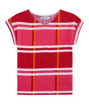 Linnen damesshirt roze Geisha / wit Multico