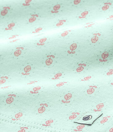 Pyjama fille imprimé bleu Bocal / rose Rose