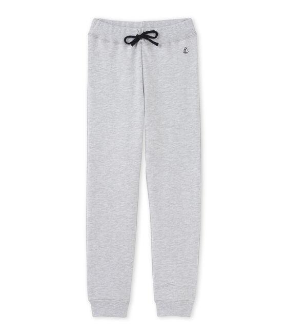Pantalon de jogging garçon en molleton gris Poussiere Chine