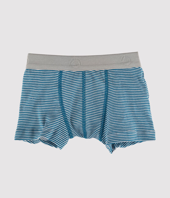 Boxer jongens blauw Contes / wit Marshmallow