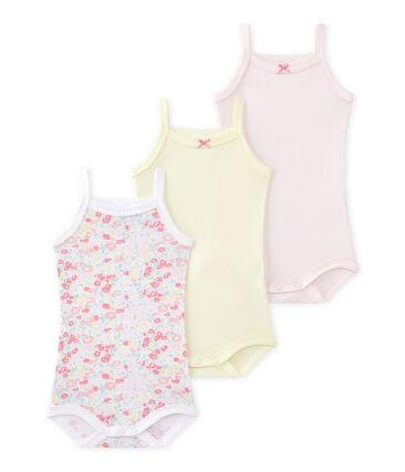 Set van 3 body's met schouderbandjes voor babymeisjes