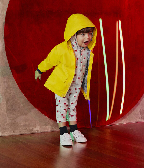 Combinaison longue imprimée bébé garçon à capuche gris Beluga / rouge Terkuit