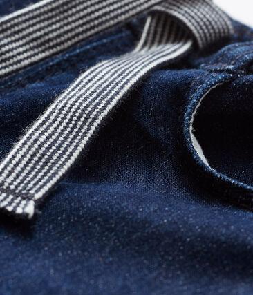 Broek van mesh met denim effect baby gemixt blauw Jean