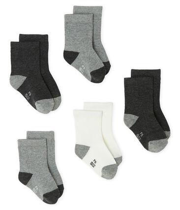Set van 5 paar onmisbare sokken voor baby jongen grijs City Chine