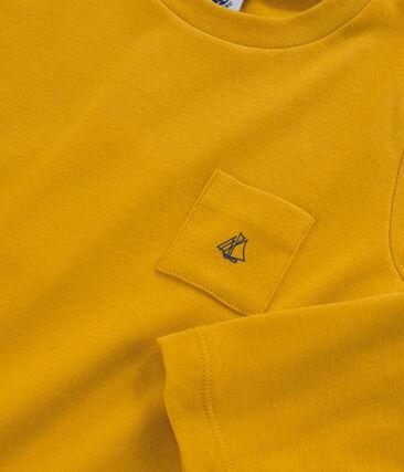 T-shirt met lange mouwen voor jongens geel Boudor