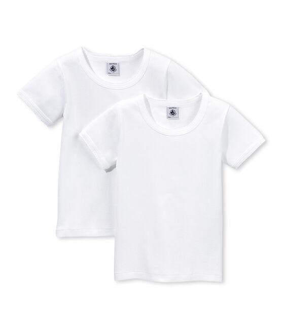 Duo de tee-shirts manches courtes petite fille lot .