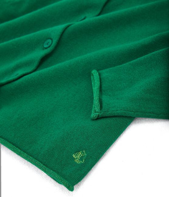 Cardigan tricot enfant fille vert Ecology