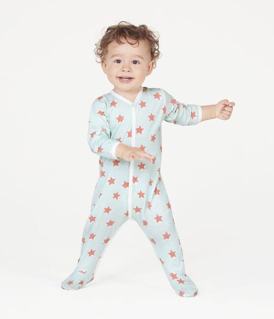 Dors bien bébé en côte blanc Marshmallow / blanc Multico