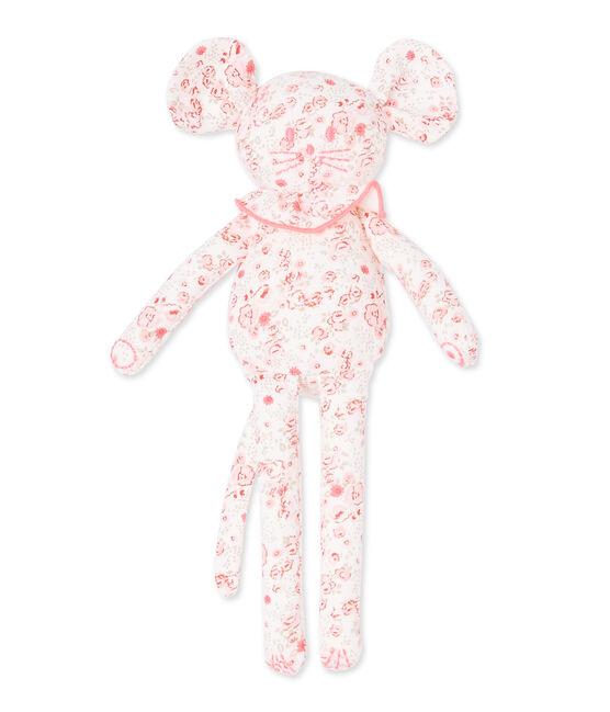 Doudou souris bébé fille imprimé blanc Lait / blanc Multico