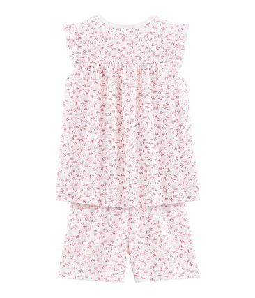 Korte meisjespyjama in fijn katoen