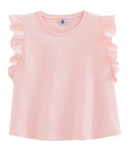 Top enfant fille rose Minois