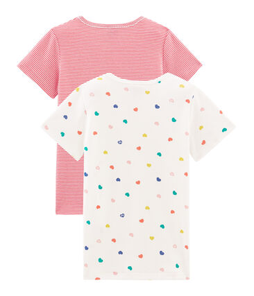 Set van twee T-shirts met korte mouwen voor meisjes set .