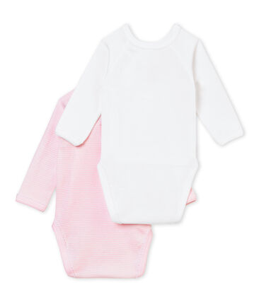 Set van 2 geboortebody's voor babymeisjes