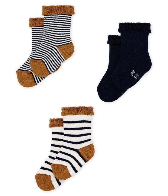Set samengesteld uit 3 paar badstof sokjes, zacht en comfortabel. set .
