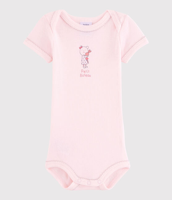 Rompertje met korte mouwen babymeisje roze Vienne