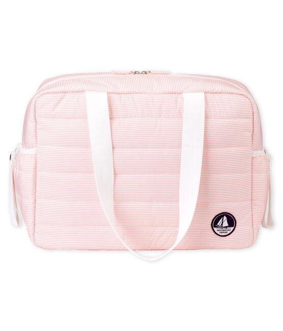 Luiertas van gewatteerd polyester roze Rosako / wit Marshmallow