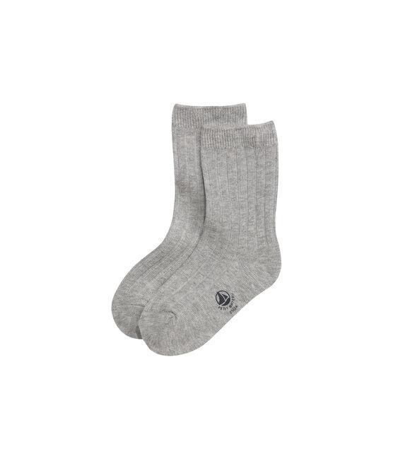 Chaussettes garçon unies gris Subway