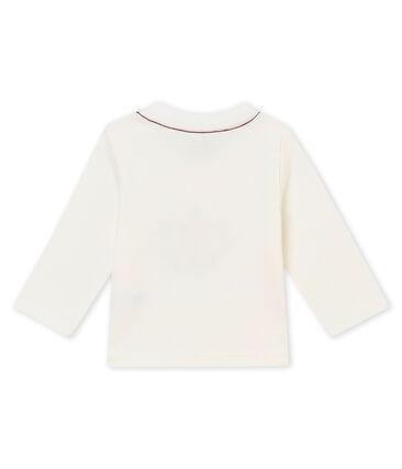 tee-shirt bébé garçon blanc Marshmallow / rouge Terkuit
