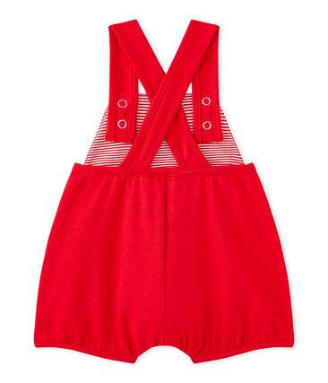 Salopette courte bébé fille en jersey lourd