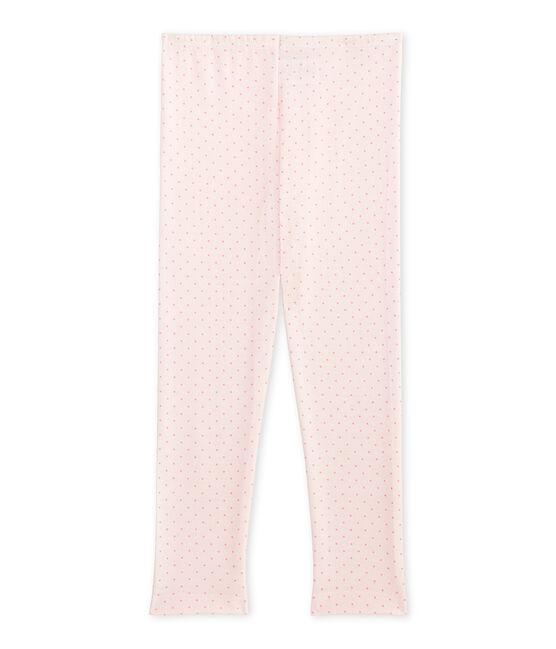 Legging fille en laine et coton rose Vienne / rose Gretel