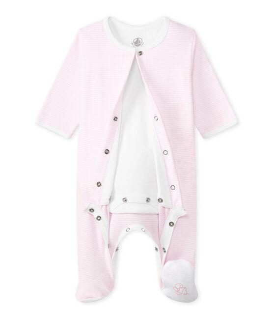 Unisex Bodyjama roze Vienne / wit Ecume