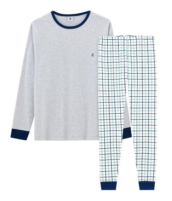 Jongenspyjama van gebreide stof wit Marshmallow / wit Multico