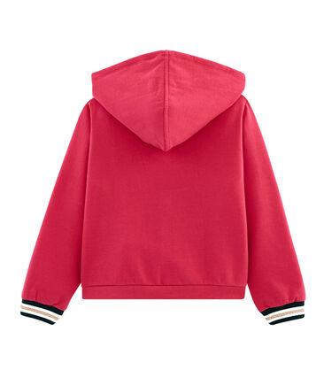 Sweatshirt à capuche enfant fille rouge Signal