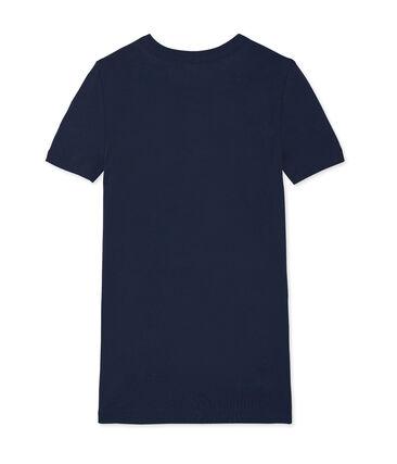 Iconisch T-shirt met korte mouwen vrouwen blauw Smoking