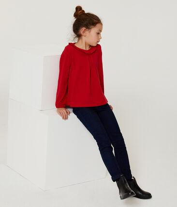 T-shirt met lange mouwen meisjes rood Terkuit