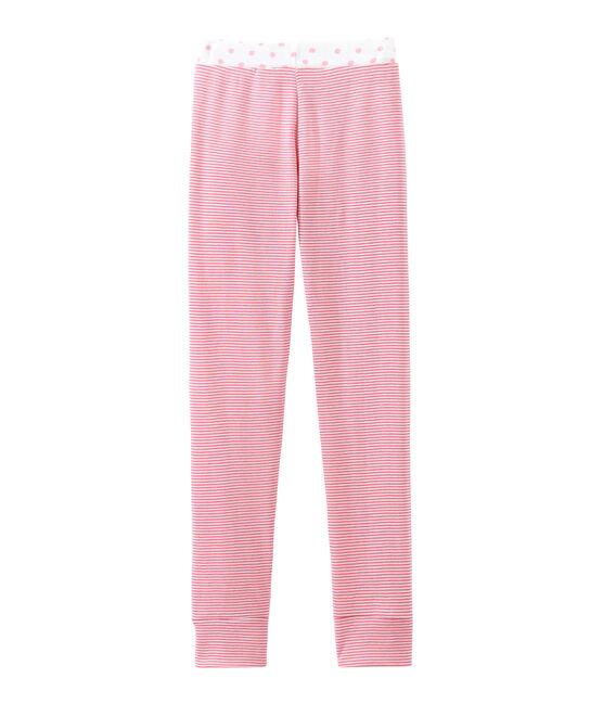 Pyjamabroek voor meisjes roze Cheek / wit Marshmallow