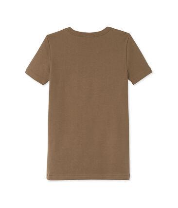 Dames-T-shirt in origineel geribd katoen