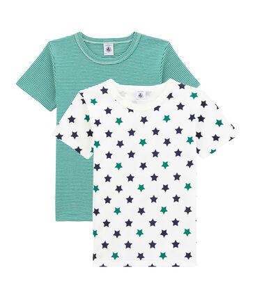 Set van 2 jongens t-shirts met korte mouwen set .