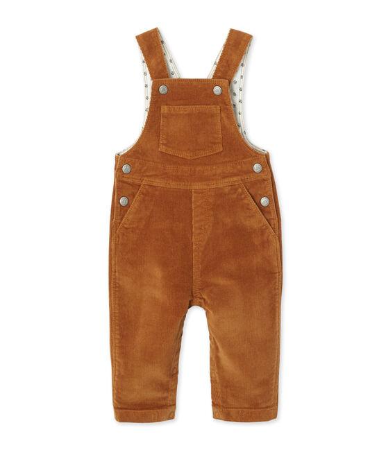 Salopette in stretchfluweel voor babyjongens bruin Cuivre