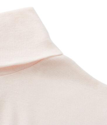 Sous pull femme en coton léger rose Fleur