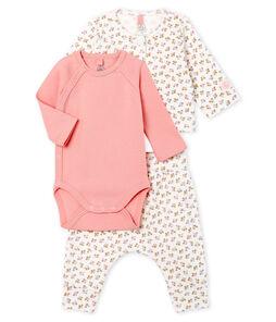 Set van drie kledingstukken van gebreide stof babymeisje