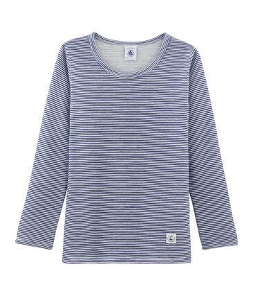 T-shirt met lange mouwen kinderen van wol en katoen